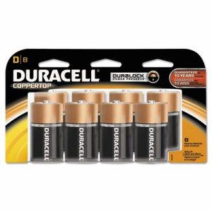 CopperTop Alkaline Batteries with Duralock Power Preserve Technology, D, 8/Pk