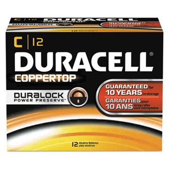 CopperTop Alkaline Batteries with Duralock Power Preserve Technology, C, 12/Box