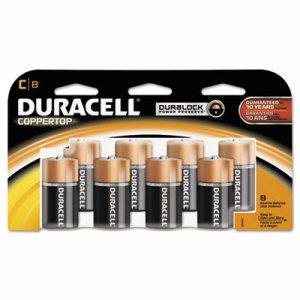 CopperTop Alkaline Batteries with Duralock Power Preserve Technology, C, 8/Pk