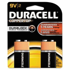 CopperTop Alkaline Batteries with Duralock Power Preserve Technology, 9V, 2/Pk