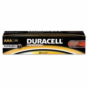 CopperTop Alkaline Batteries with Duralock Power Preserve Technology, AAA, 36/Pk