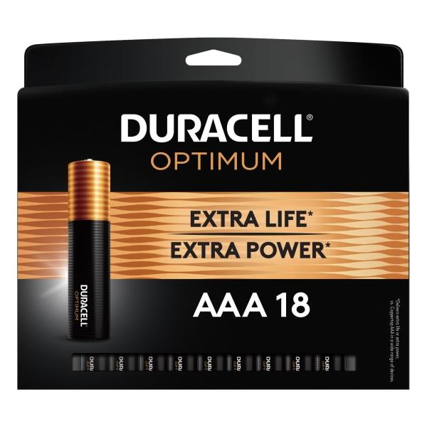 Optimum Alkaline AAA Batteries, 18/Pack