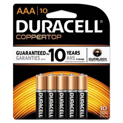 CopperTop Alkaline Batteries with Duralock Power Preserve Technology, AAA, 10/PK