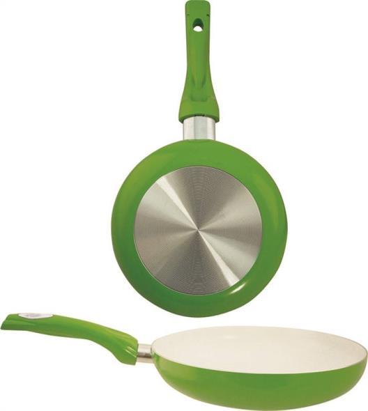 Euro-Ware 8120-GR Non-Stick Fry Pan, 8 in Dia, Aluminum, Green