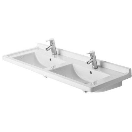 51-1/8 Double Furniture Washbasin White