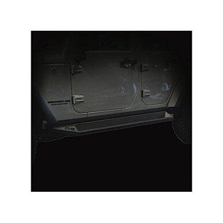 JEEP JK ROCK SLIDER STEP 07-18 WRANGLER JK MATT BLACK 4 DOOR PLATED STEEL