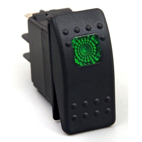 KU80012 20 Amp Green Light Rocker Switch Kit