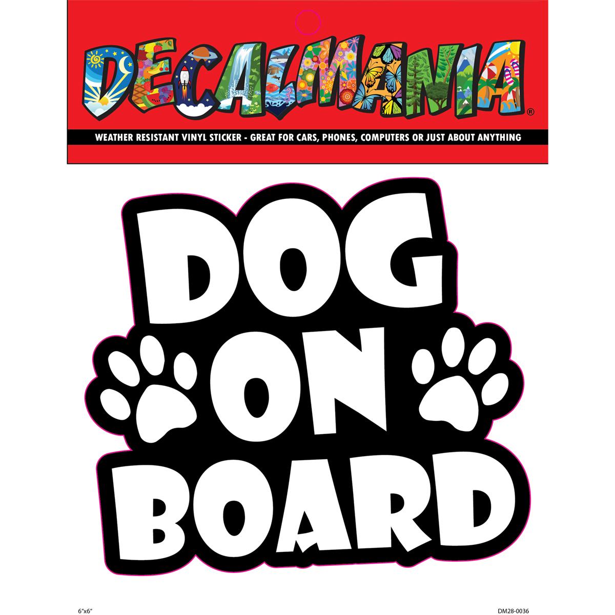 DecalMania - Dog On Board 1PK 6in