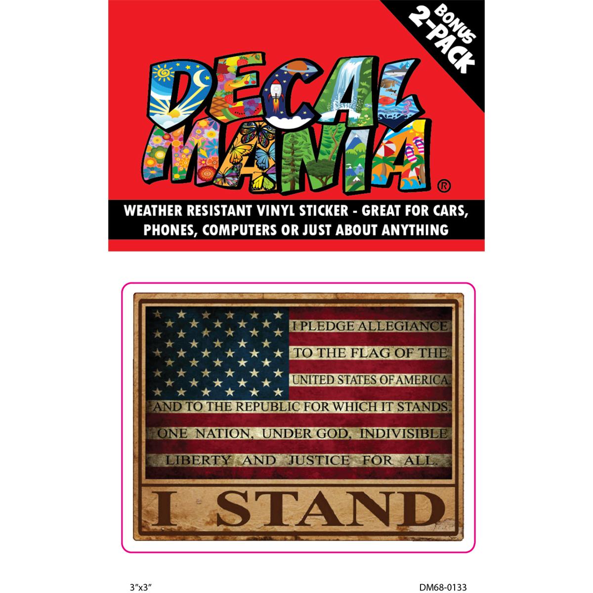 Decal Pledge Allegiance 2PK 3in