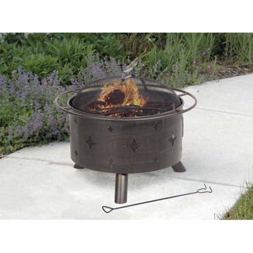 Lantana Steel Fire Bowl