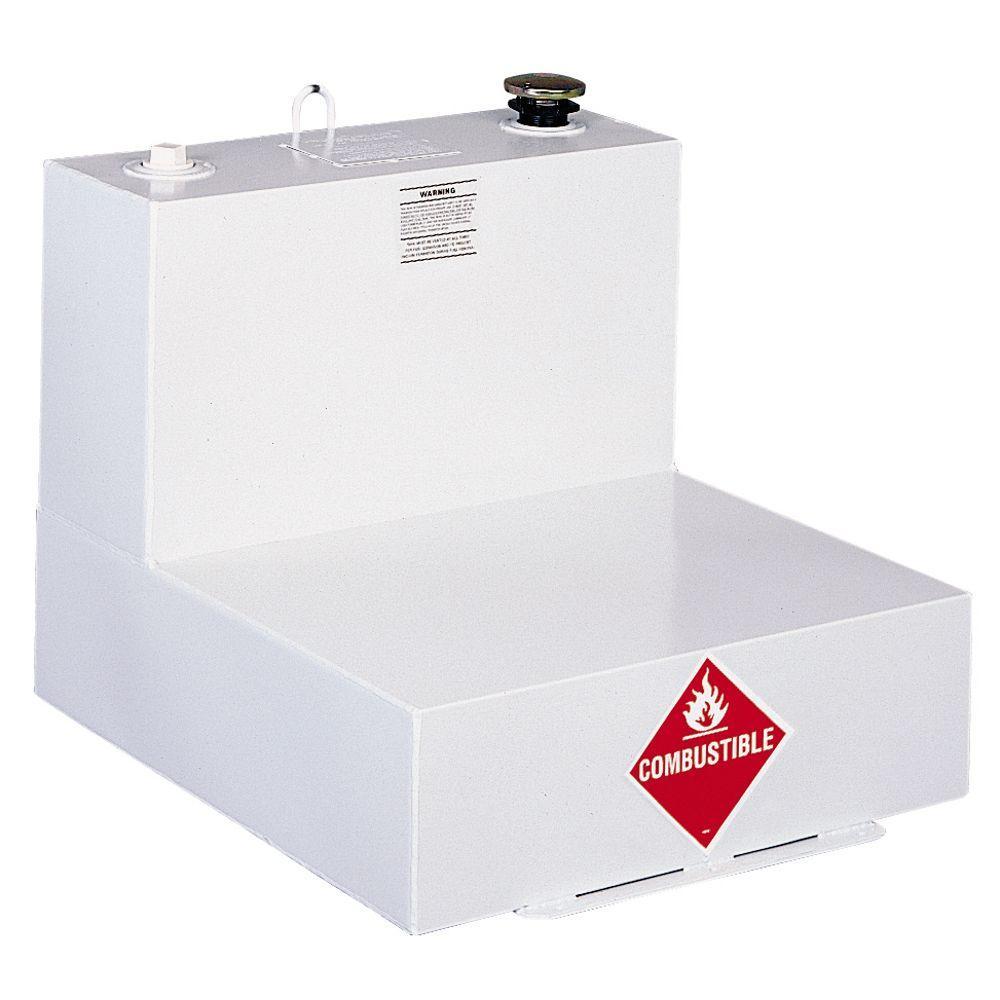 JOBOX 48 GAL L-SHAPED STEEL TRANSFER TANK - WHITE