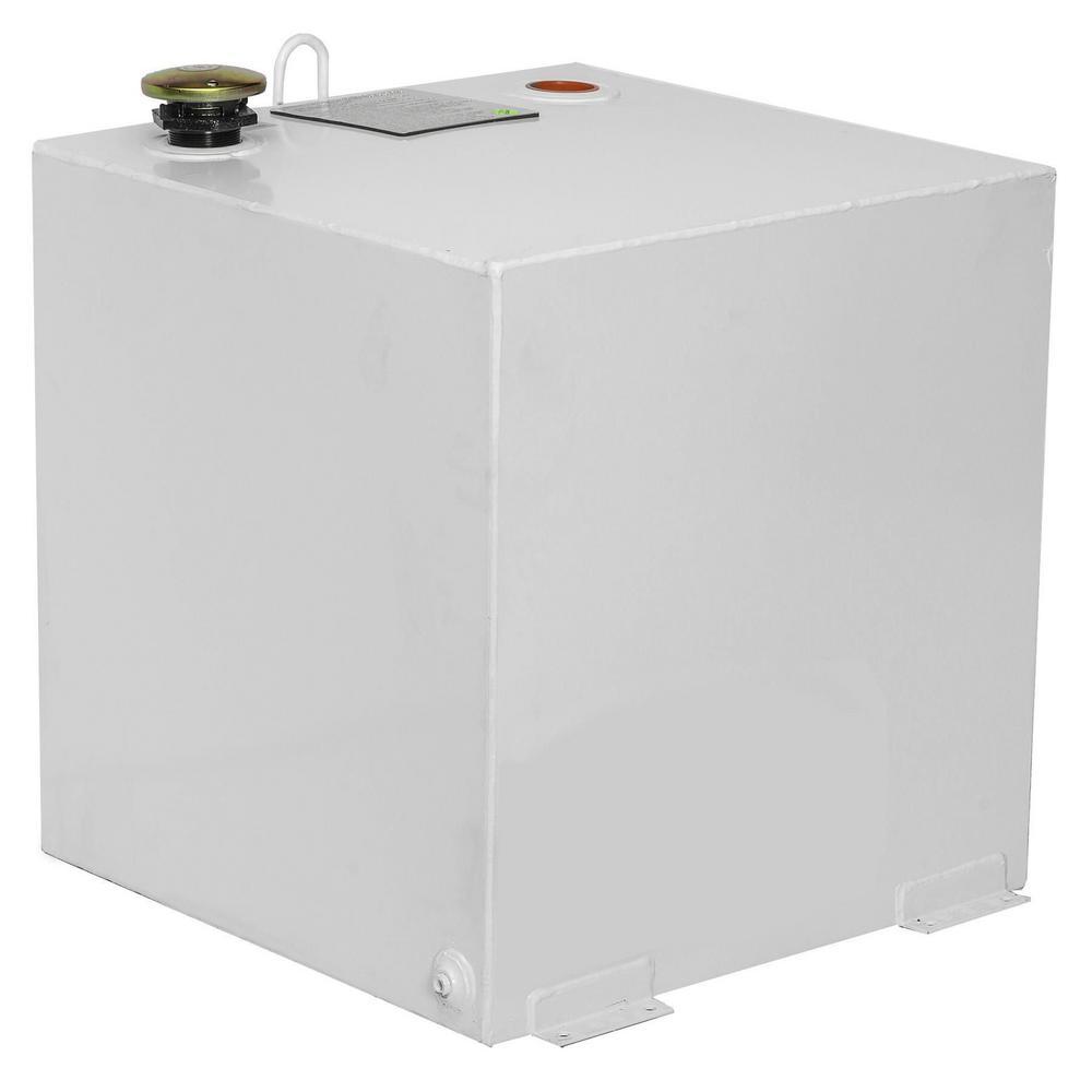 JOBOX 50 GAL SQUARE STEEL TRANSFER TANK - WHITE