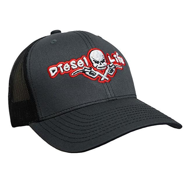 DIESEL LIFE CAP  SNAP BACK CHAR/BLK/RED