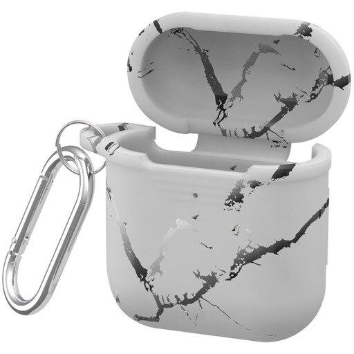 Airpod Silicone Cs Wht Marble