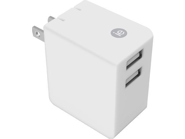 3.4Amp Dual USB Wall Chrgr Wht