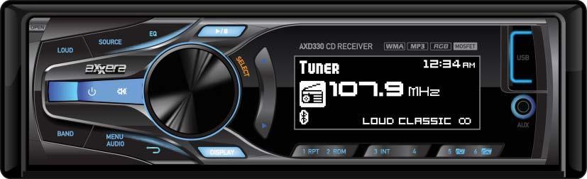 DUAL AXD330 CD, USB, FULL-GRAPHIC LC