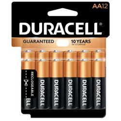 Duracell Coppertop AA Alkaline Battery,12P