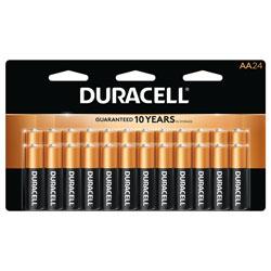 Duracell Coppertop AA Alkaline Battery,24Pk