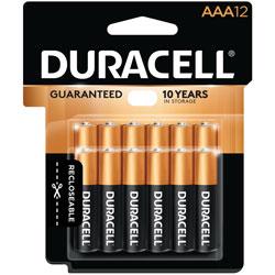 Duracell Coppertop AAA Alkaline Battery,12