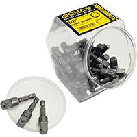 Easypower 00480 Socket Adapter, 3/8 in Square Drive, 2 in, Steel