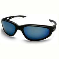 Edge Dakura TSMAP218 Polarized Safety Glasses, Aqua Precision Blue Mirror Scratch Resistant Lens