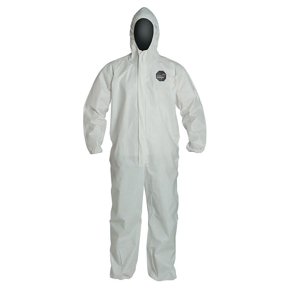 ProShield NexGen Elastic-Cuff Hooded Coveralls, White, 2X-Large, 25/Carton