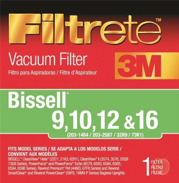 Filtrete 66809B-2 Type 9/10/12/16 Vacuum Cleaner Filter