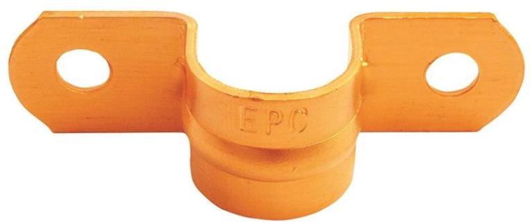 Elkhart 83003 2-Hole Tube Strap, 1/2 in, Copper
