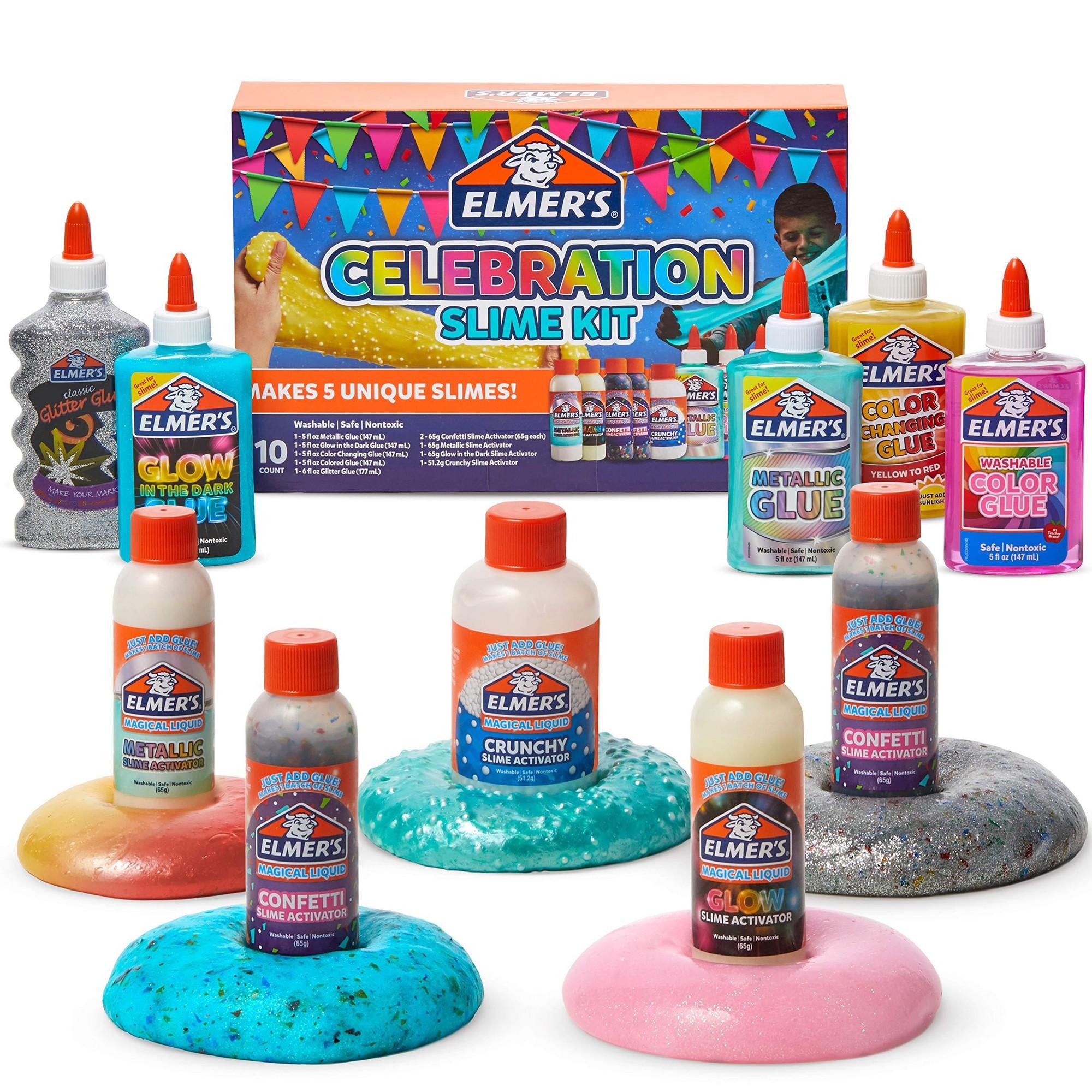 Slime Celebration Kit, 36.97 oz, Assorted Colors