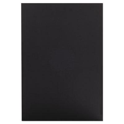 CFC-Free Polystyrene Foam Board, 20 x 30, Black Surface and Core, 10/Carton