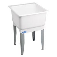Utilatub 14 Economy Laundry/Utility Tub, 34 in H X 23 in W X 25 in D, Co-Polypure, White