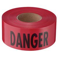 TAPE BARR DANGER RED 1000FT