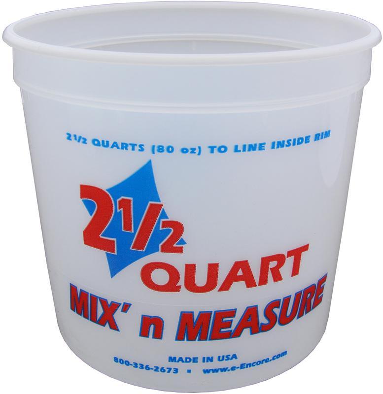 300344 2.5Q PLASTIC MIX FT. N MEASURE
