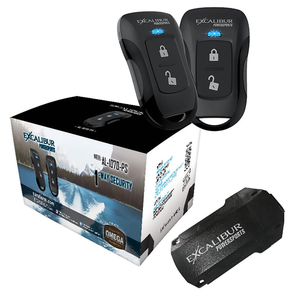 Excalibur 600 Ft 1 Way Powersports Security System 2 Remotes Onboard Shock & Tilt