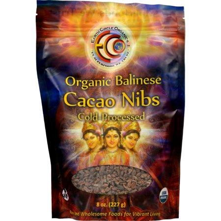 Earth Circle Organics Cacao Nibs  Organic  Balinese Raw  8 oz