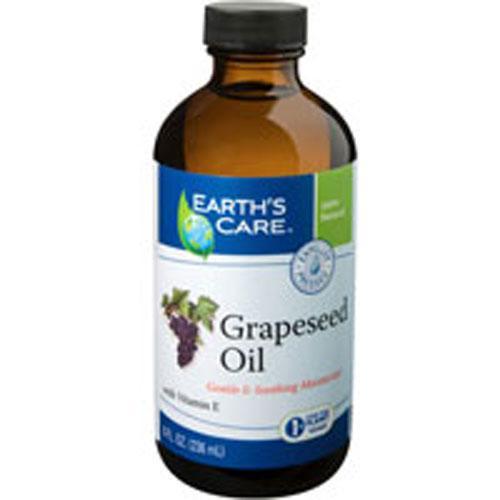 Earth's Care 100% Pure Grapeseed Oil (8 fl Oz)