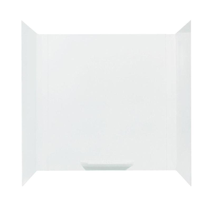 DURAWALL� FIBERGLASS BATHTUB WALL KIT, 3 PIECES, 1 SHELF, WHITE, 30 X 60 IN.