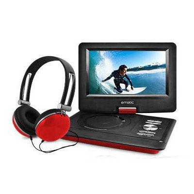 "10"" Port DVD Headphone Bundle Red"