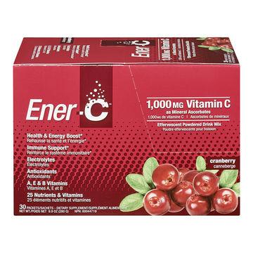 Ener-C Vitamin Drink Mix Cranberry 1000MG (1x30 Ct)