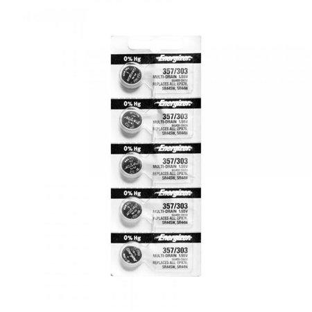5X ENERGIZER E357/303 EPX76 S44W WAT BAT