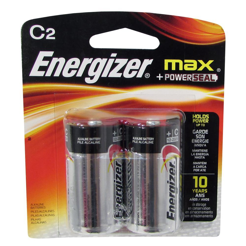 ENERGIZER MAX +POWERSEAL C2 ALKALINE BAT