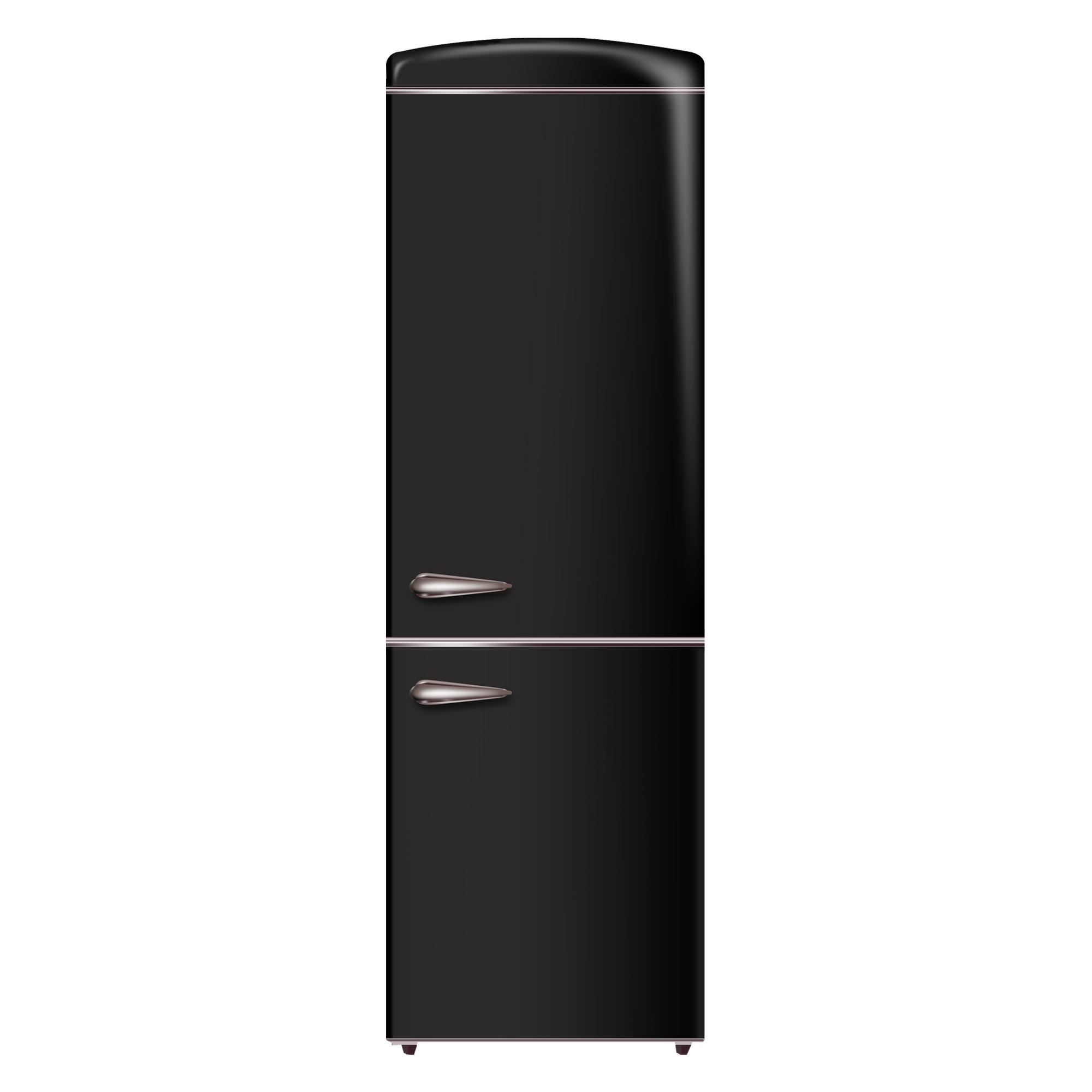 Conserv 10.7 cu. ft. Bottom Mount Retro Refrigerator in Black