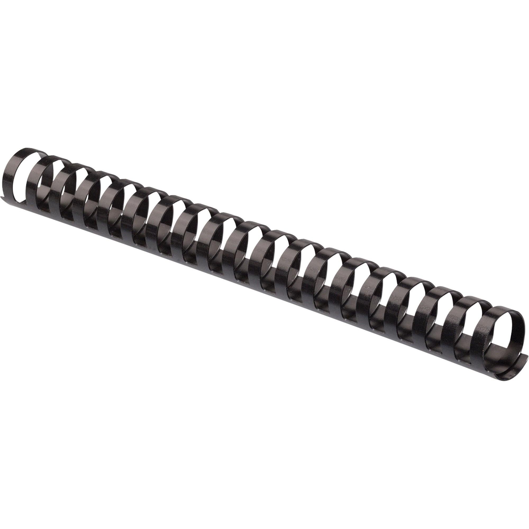 """Plastic Comb Bindings, 3/4"""" Diameter, 150 Sheet Capacity, Black, 100 Combs/Pack"""