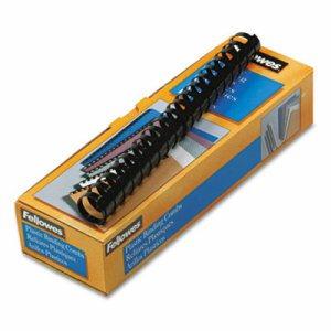 """Plastic Comb Bindings, 1"""" Diameter, 200 Sheet Capacity, Black, 10 Combs/Pack"""