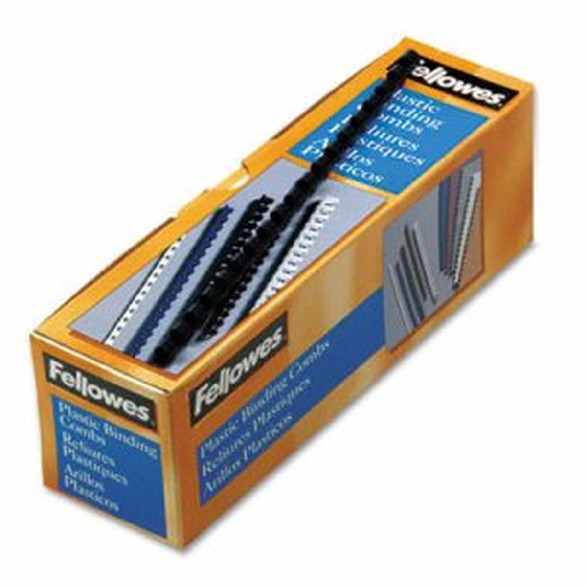 "Plastic Comb Bindings, 5/16"" Dia, 40 Sheet Capacity, Navy Blue, 100 Combs/Pack"