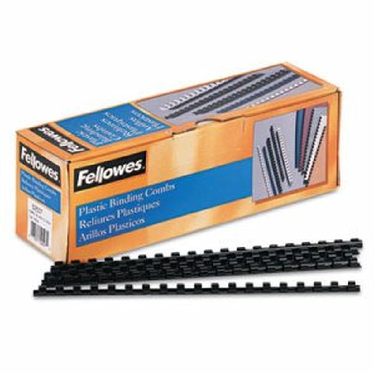"""Plastic Comb Bindings, 5/16"""" Diameter, 40 Sheet Capacity, Black, 100 Combs/Pack"""