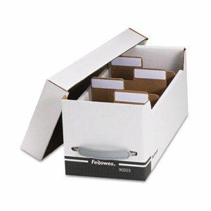 Corrugated Media File, Holds 125 Diskettes/35 Standard Cases, White/Black