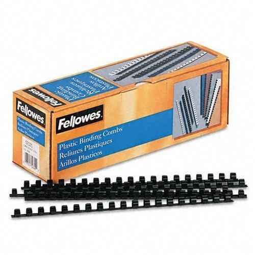 "FELLOWES 52325 0.5"" Plastic Binding Combs, 100pk (Black)"