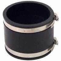 Fernco 1056 Flexible Pipe Coupling, 8 in x 6.04 in, Plastic, 4.3 psi, PVC