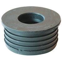 Fernco 33U-139 Compression Donut, 3 X 1-1/2 in, SV X Hub, SCH 40, Plastic